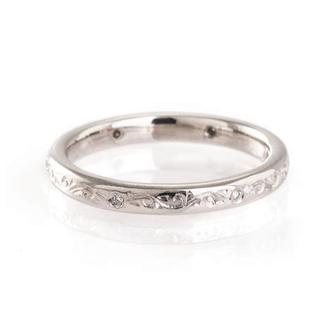 intricate engraved wedding ring mitchel engraving