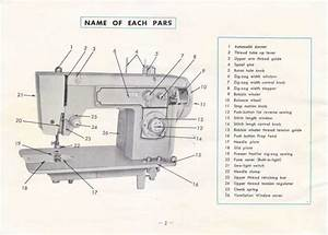 Deluxe 600a Zigzag Sewing Machine Instruction Manual