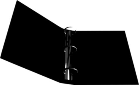 binder clipart black and white three ring binder clip at clker vector clip
