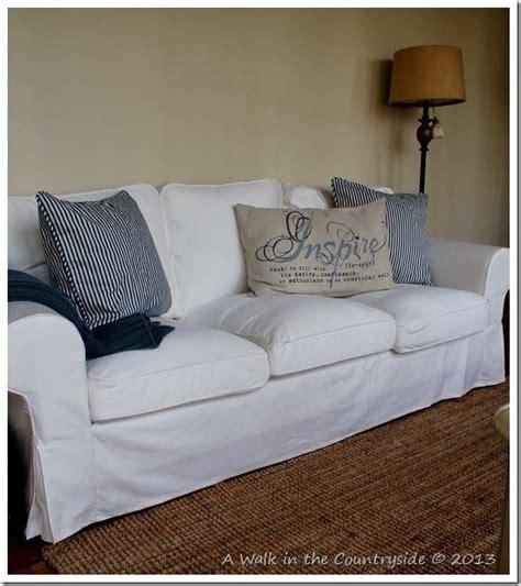 Pottery Barn Sofa Pillows by Ikea Ektorp Sofa And Pottery Barn Pillows Diy Home Decor