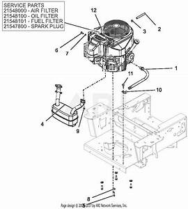 Gravely 991211  050000 -   Pro-turn 60 U0026quot  Parts Diagram For Engine