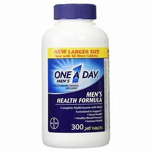 Buy One-a-day Men U0026 39 S Health Formula- Multivitamin - 300 Tablets