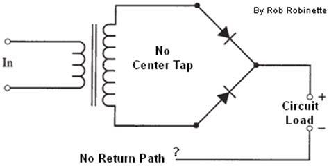 center tapped transformers dont   bridge