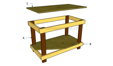 how to make a work table how to build a work table howtospecialist how to build