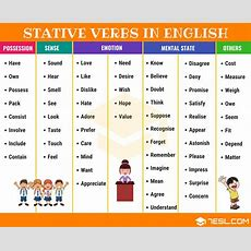 Stative Verbs What Is A Stative Verb? Useful List