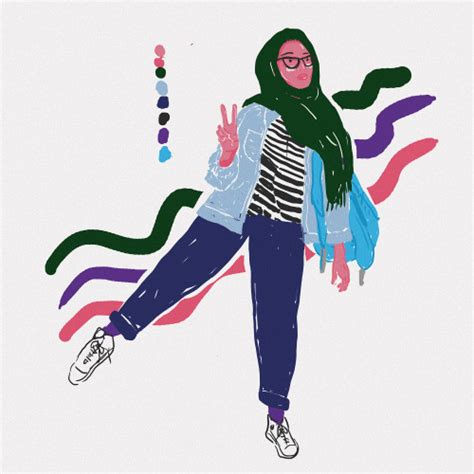 hijab illustration tumblr