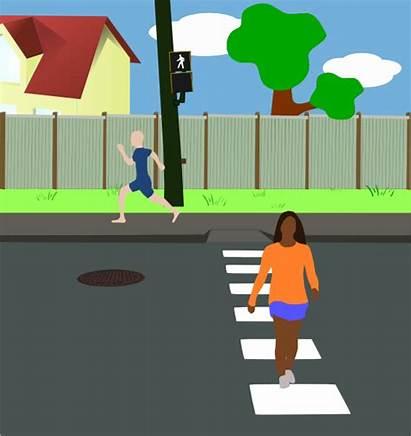 Street Neighborhood Clip Clipart Vector Clker