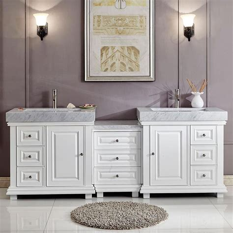 modern double bathroom vanity white