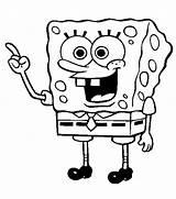 Spongebob Coloring Children Choosing sketch template