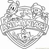 Animaniacs Coloring Pages Cartoon Coloringpages101 Printable sketch template