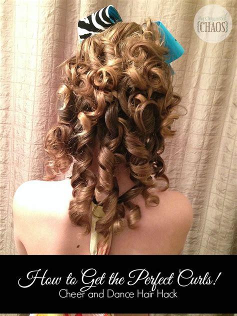 perfect curls cheer  dance hair hack