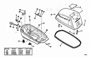 Motor Cover Parts For 1976 6hp 6r76a Outboard Motor