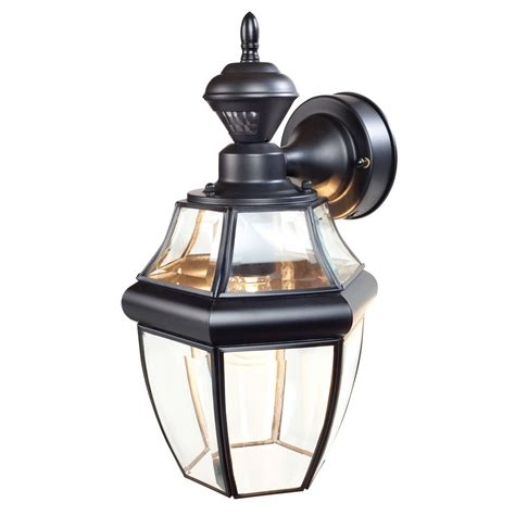 motion activated porch light shop secure home hanging carriage 14 5 in h black motion