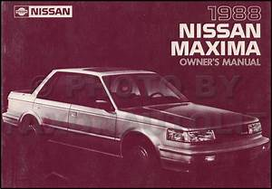 1988 Nissan Maxima Wiring Diagram Manual Original