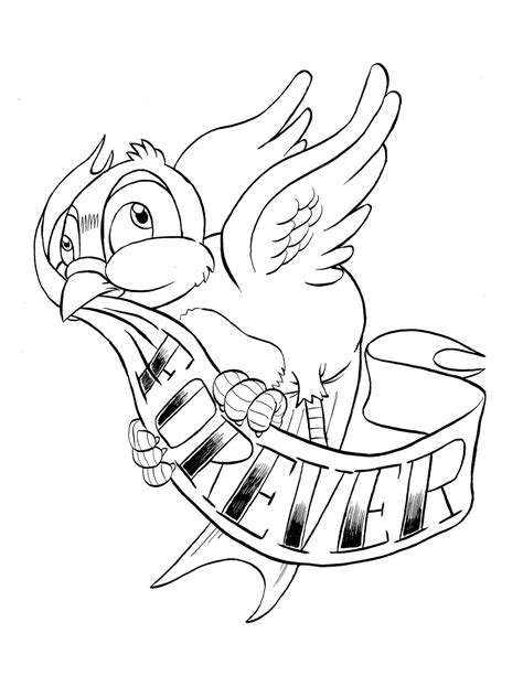 bluebird of happiness tattoo designs - Google Search | Birds and Butterflies | Coloring pages