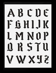 Buchstaben Schablone Metall : schrift schablonen gotische buchstaben von a z hobby bastel mix shop berlin gotische gro e ~ Frokenaadalensverden.com Haus und Dekorationen