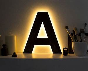 letter lights decorative night lamp custom letter With lighted wooden letters