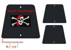 imprimer les drapeaux de pirate pour la decoration dun