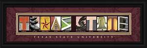 Texas state bobcats campus letter art for Campus letter art