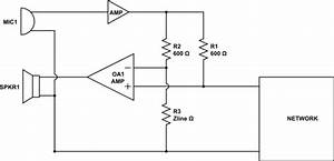 Op Amp - 2  4 Wire Conversion Circuit For Uk Telephone