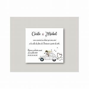 Carte Grise Grenoble : faire part mariage invitation 2cvretro 1 60 grenoble amalgame imprimeur graveur ~ Maxctalentgroup.com Avis de Voitures