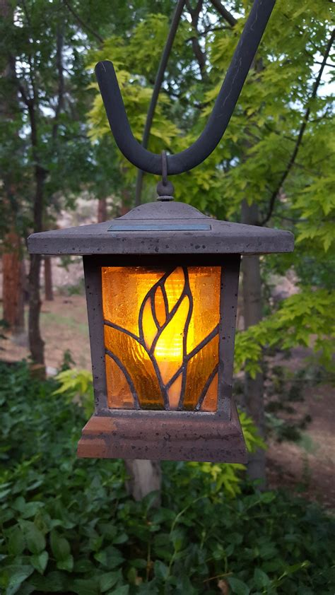 solar garden light homestead backyard