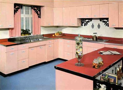 fashioned cupboards early 50s geneva blossom pink vintage kitchen cabinet