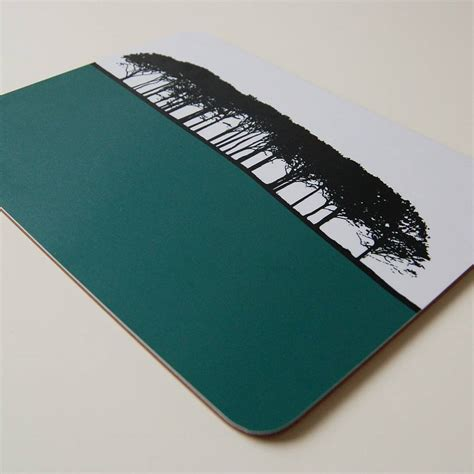 Table Mats - rural landscape table mats set by the rooms