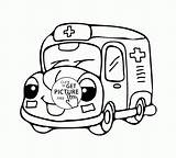 Ambulance Coloring Cute Truck Pages Fire Drawing Emergency Printables Transportation Cars Drawings Easy Wuppsy Cartoon Race Getdrawings Vehicles Printable Trucks sketch template