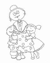Valentine Grandma Digi Coloring Stamps Pages Digital Dearie Dolls Para Card Impressions Stamp Colouring Embroidery Dibujos Adult Dibujo Colorear Sheets sketch template