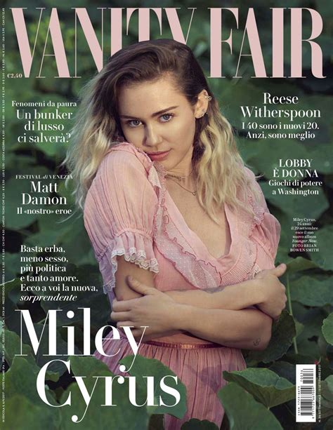 Vanità Fair Miley Cyrus Vanity Fair Magazine Italy September 2017 Issue