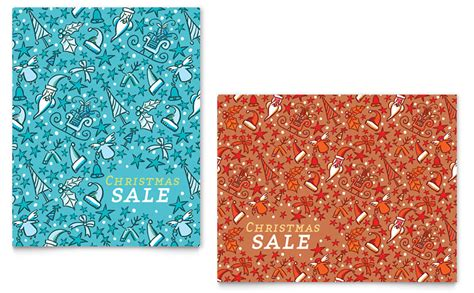 christmas confetti sale poster template word publisher