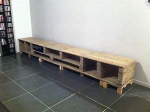 Acheter Meuble En Palette Bois : meuble tele en palette en bois solutions pour la ~ Premium-room.com Idées de Décoration