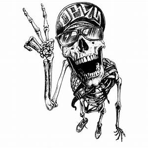 OBEY Track Skull Graphite BlackLine Illustrations