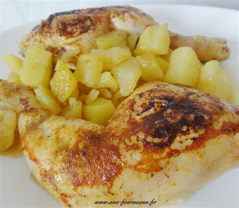 cuisiner un poulet au four cuisse de poulet rôtie sauce curry aux fourneaux