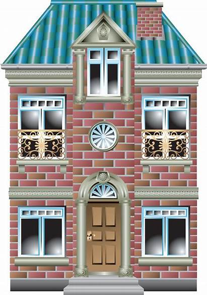 Building Clipart Cartoon Transparent Houses Background Clip