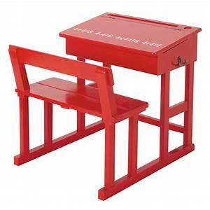 Bureau Enfant En Bois : bureau enfant en bois rouge l 65 cm pupitre maisons du monde ~ Teatrodelosmanantiales.com Idées de Décoration