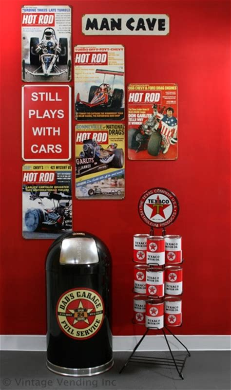 Decorating with Hot Rod Magazine Signs