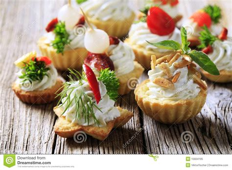 canape stock variety of canapes stock image image of cheese almonds
