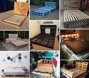 Best, 20, Recycled, Pallet, Bed, Frame, And, Storage, Ideas