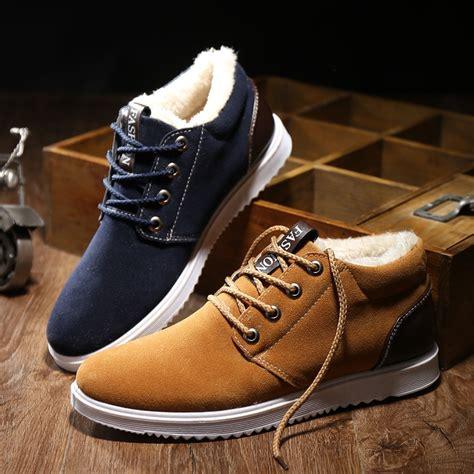 Autumn Men Cashmere Plus Cotton Shoes Running
