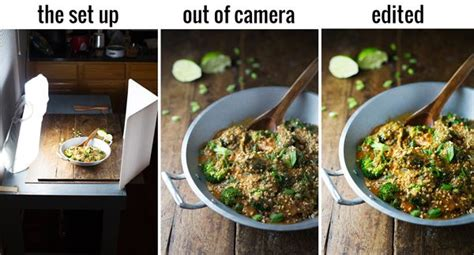 artificial lighting tips  food photography
