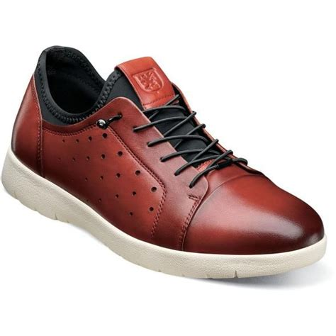 Stacy Adams Red Leather Casual Fashion Sneaker 25382-608