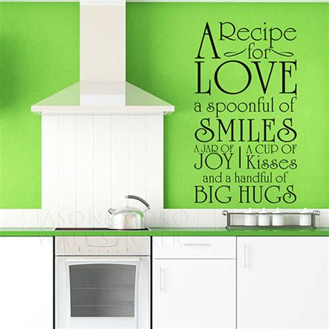 stickers cuisine phrase diy a recipe for words kitchen cookhouse wall
