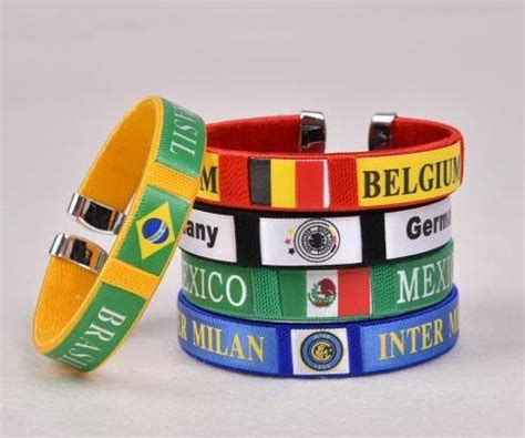 pcs  hot sale flag soccer team football fans silicone
