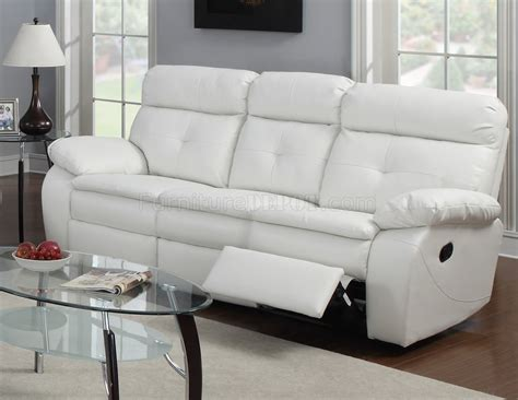 white leather reclining sofa g577a reclining sofa loveseat in white bonded leather by