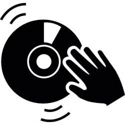 Dj Decks Free by Dj Hand On A Vintage Music Disc Icons Free Download