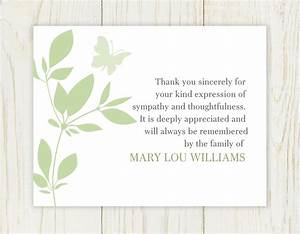butterfly funeral thank you card digital file sympathy With thank you letter for sympathy flowers