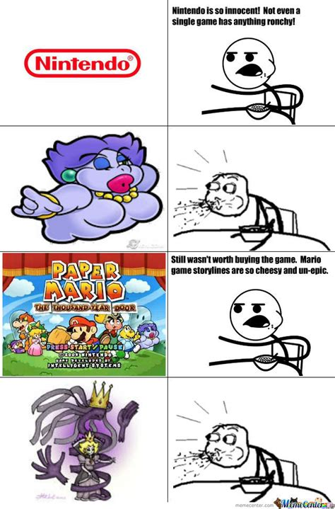 Paper Mario Memes - oh paper mario ttyd you broke all the rules by benji troll meme center