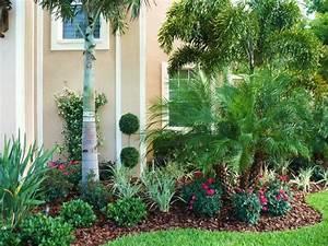 Tropical garden decor design, tropical front yard